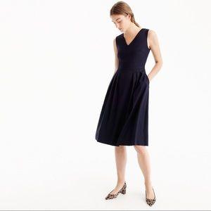 J.Crew Black V-Neck Wool Dress
